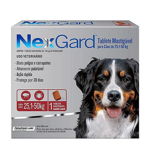 Antipulgas e Carrapatos NexGard para Cães de 25,1 a 50 kg 136 mg