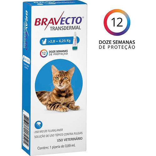 Bravecto Gatos de 2,8 a 6,25kg Antipulgas Transdermal 250mg