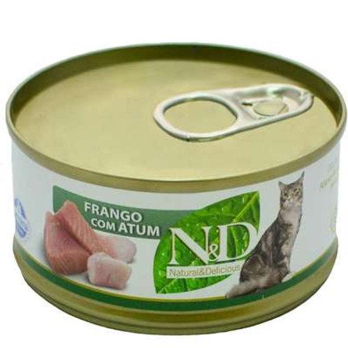 Ração Farmina N&D Úmida de Frango e Atum para Gatos - 70 g