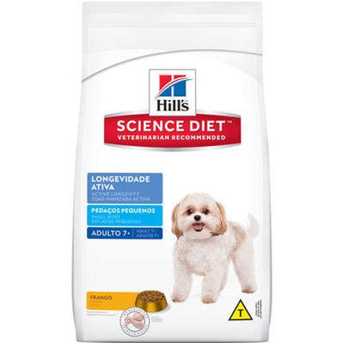 Ração Hill's Science Diet Pedaços Pequenos para Cães Adultos 7+