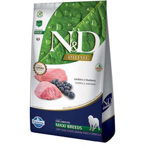 Ração Farmina N&D Prime Cordeiro e Blueberry Cães Adultos Raças Grandes -10.1 Kg