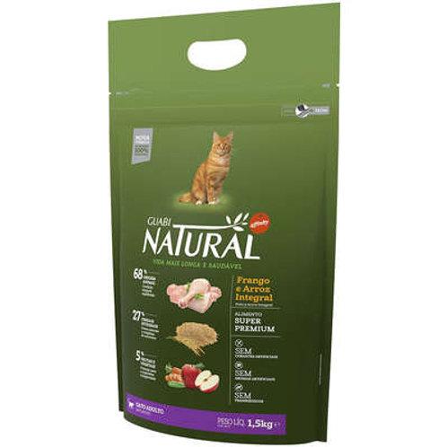 Ração Affinity Guabi Natural Frango e Arroz Integral para Gatos Adultos