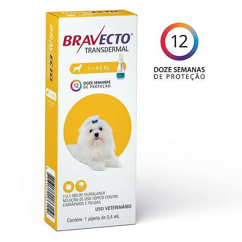 Bravecto Cães de 2 a 4,5 kg Antipulgas Transdermal 112,5 mg