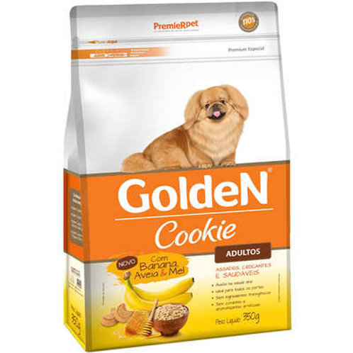 Cookie Golden para Cães Adultos Banana Aveia e Mel - 350 g