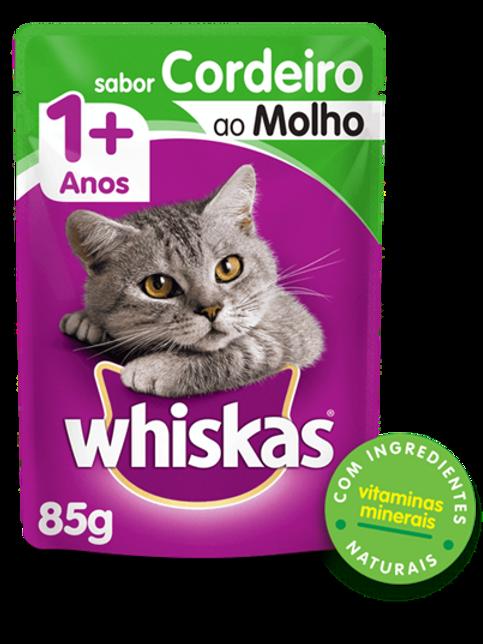 Sachê WHISKAS para Gatos Adulto Sabor Cordeiro ao Molho - 85 G