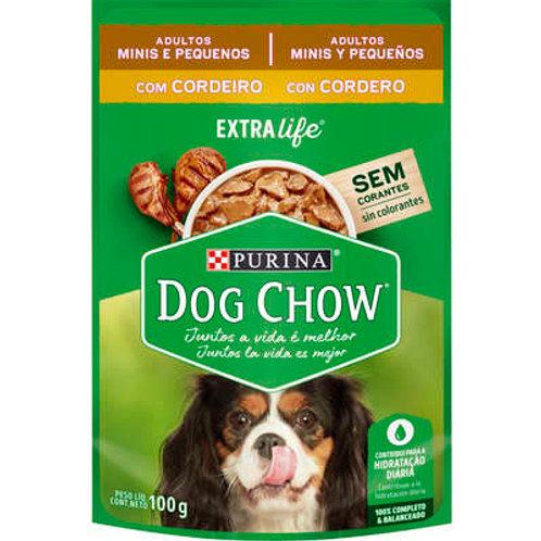 Sachê Dog Chow para Cães Adultos Mini e Pequeno Porte Sabor Cordeiro