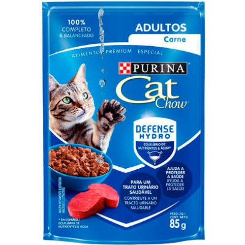 Sachê Purina Cat Chow Gatos Adultos Carne ao Molho
