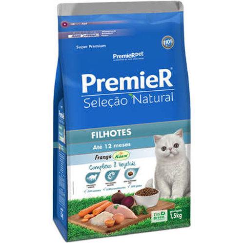 Ração Premier Seleção Natural para Gatos Filhotes Frango - 1,5 Kg