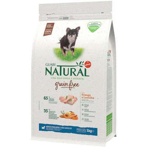 Ração Guabi Natural Grain Free Frango e Lentilha Cães Ad Raças Mini e Pequenas