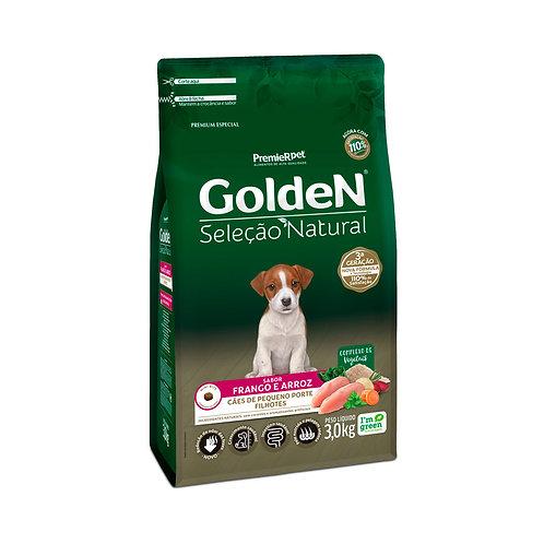 Ração Golden Seleção Natural para Cães Filhotes Mini Bits Frango - 3 Kg