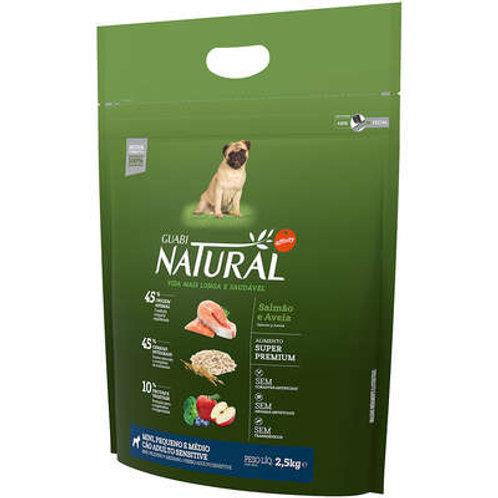 Ração Affinity Guabi Natural Salmão, Aveia Cães Adultos Sensitive Pequeno, Médio