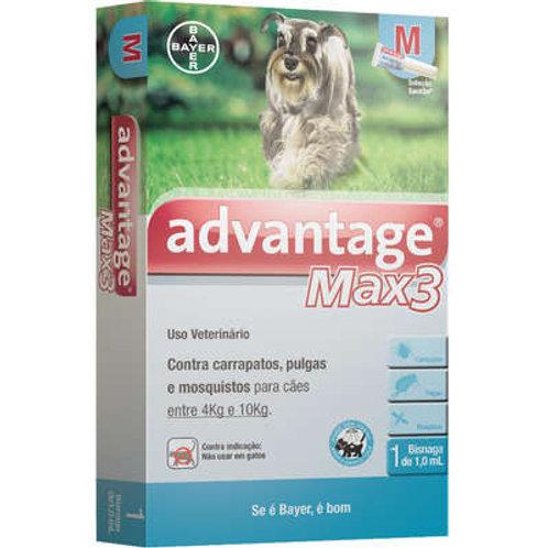 Antipulgas Advantage Max3 Cães 4kg a 10kg Bayer