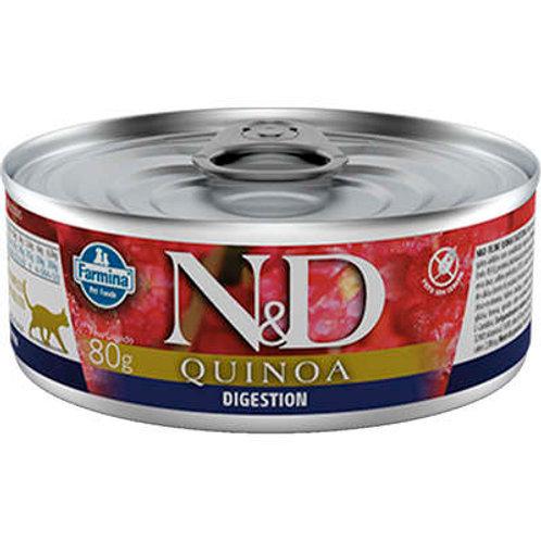 Ração Úmida Lata Farmina N&D Quinoa Digestion para Gatos Adultos
