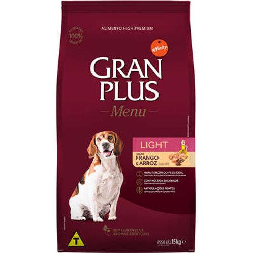 Ração GRANPLUS Menu Cães Adultos Light Sabor Frango & Arroz - 15 Kg