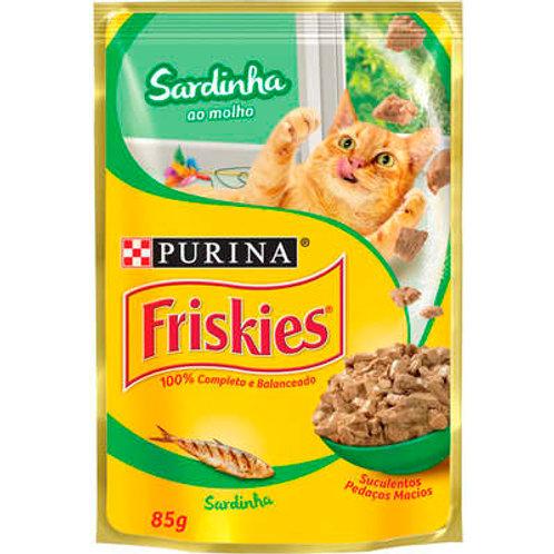 Sachê Purina Friskies para Gatos Adultos  - Sardinha ao molho