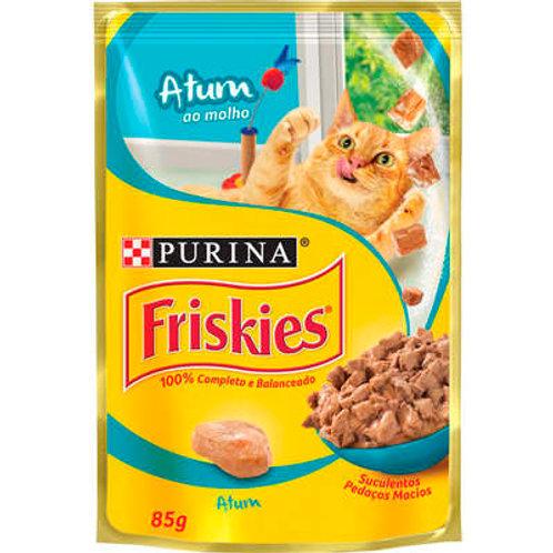 Sachê Purina Friskies para Gatos Adultos - Atum ao molho