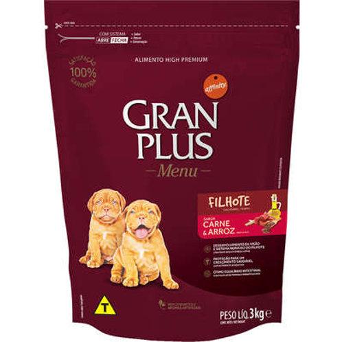 Ração GRANPLUS Menu para Cães Filhotes Sabor Carne & Arroz