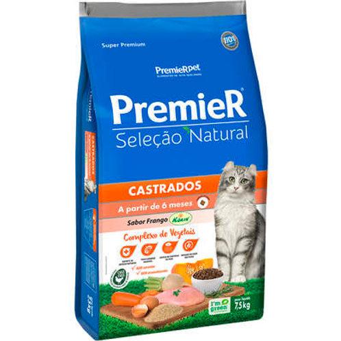 Ração Premier Seleção Natural para Gatos Adultos Castrados - 7,5 Kg