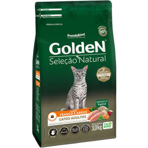 Ração Golden Seleção Natural para Gatos Adultos Frango