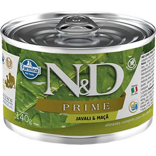 Ração Úmida Lata Farmina N&D Prime Grain Javali & Maça para Cães Adultos