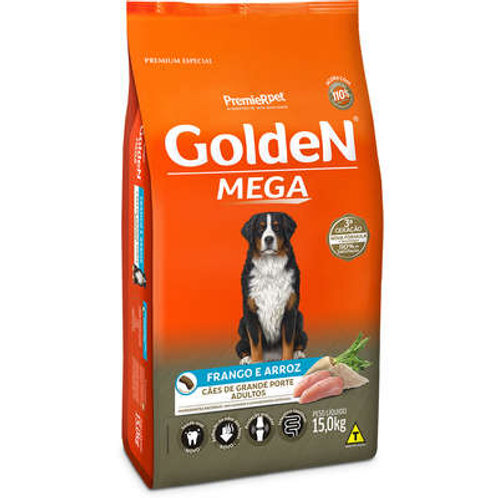 Ração Golden Mega Cães Adultos Raças Grandes - 15 Kg