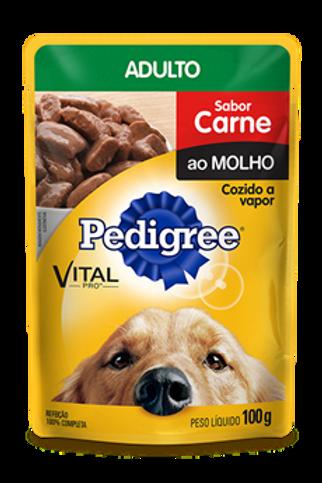 Sachê Pedigree Adulto Sabor Carne ao Molho - 100 G