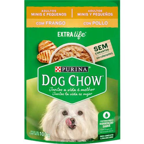 Sachê Dog Chow para Cães Adultos Mini e Pequeno Porte Sabor Frango