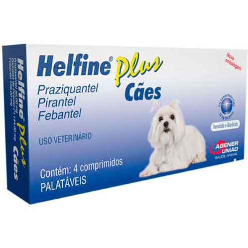 Vermífugo Helfine Plus Cães Agener
