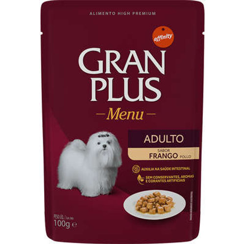 Sachê GRANPLUS para Cães Adultos Sabor Frango - 100 G