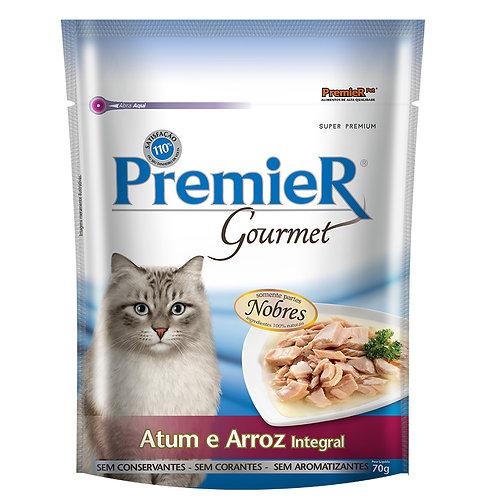 Premier Gourmet Gatos Adultos Atum e Arroz Integral - 70 G