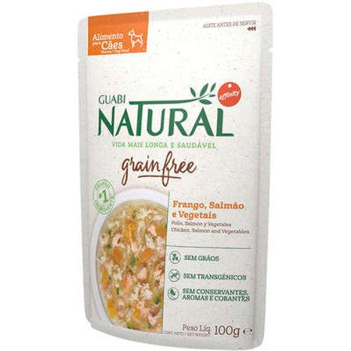 Ração Úmida Guabi Natural Grain Free Frango, Salmão e Vegetais Cães Adultos 100g