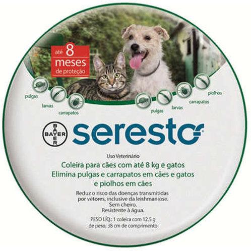 Coleira Antipulgas Seresto Cães e gatos até 8kg Bayer