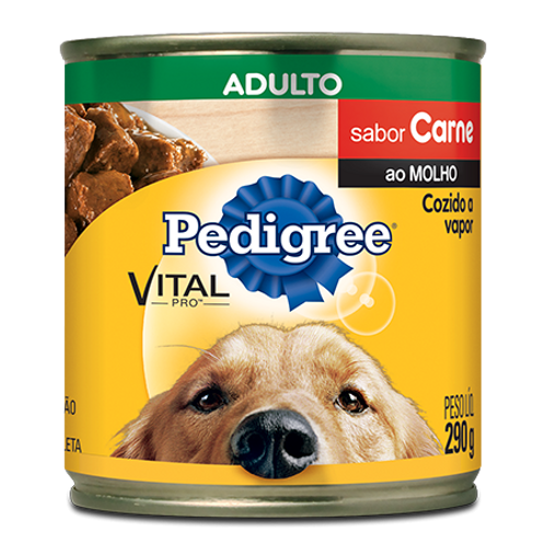 Lata Pedigree Adulto Sabor Carne ao Molho - 290 G
