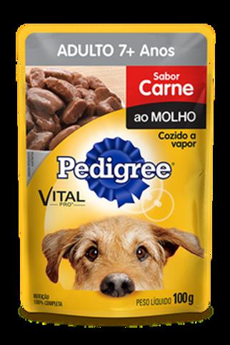 Sachê Pedigree Adulto 7+ anos Sabor Carne ao Molho - 100 G