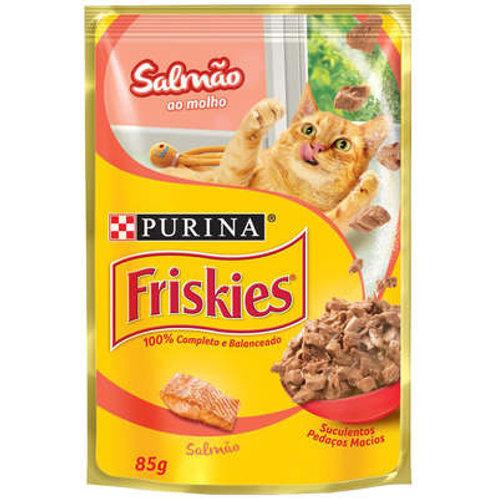Sachê Purina Friskies para Gatos Adultos - Salmão ao Molho