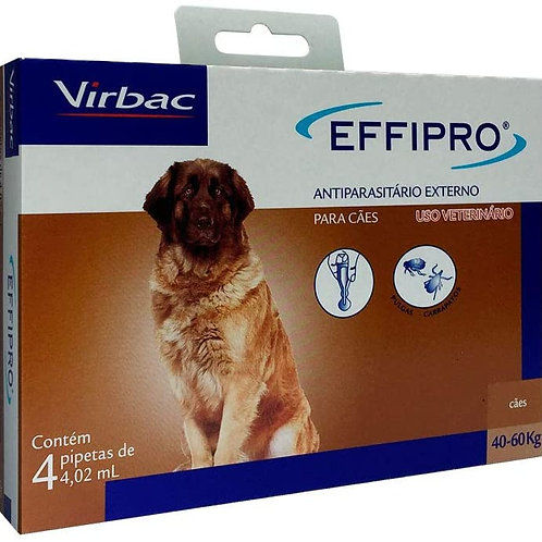 Antipulgas e Carrapatos Effipro Cães mais 40kg 4,02ml Virbac