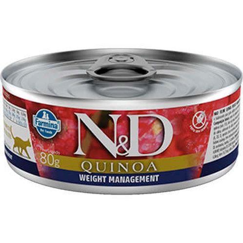 Ração Úmida Lata Farmina N&D Quinoa Weight Management para Gatos Adultos