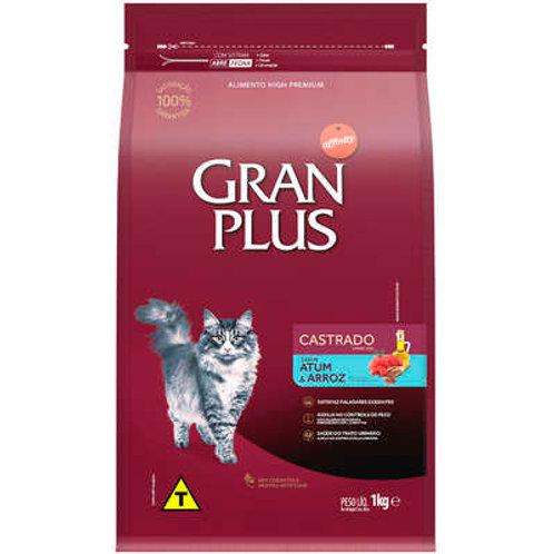 Ração GRANPLUS para Gatos Adultos Castrados Sabor Atum & Arroz