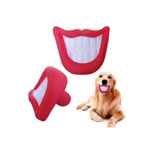 Brinquedo Sorriso / Boca de Vinil para Cães