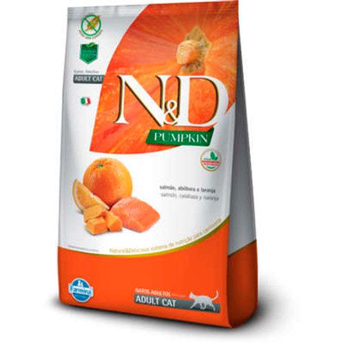 Ração Farmina N&D Pumpkin Salmão, Abóbora e Laranja para Gatos Adultos