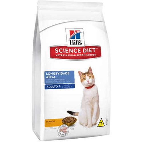 Ração Seca Hill's Science Diet para Gatos Adultos 7+