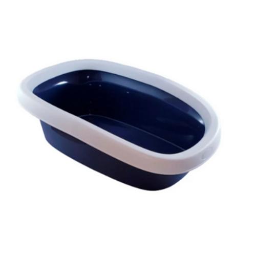 Bandeja Higiênica Com Borda Para Gatos Azul Chalesco Tam: 01