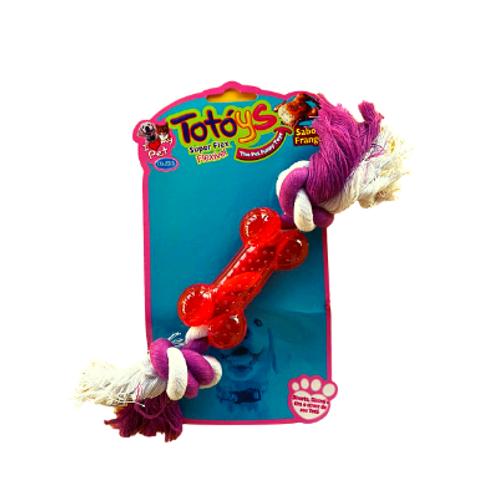 Brinquedo Chalesco para Cães Totóys Osso Flex Sabor Frango