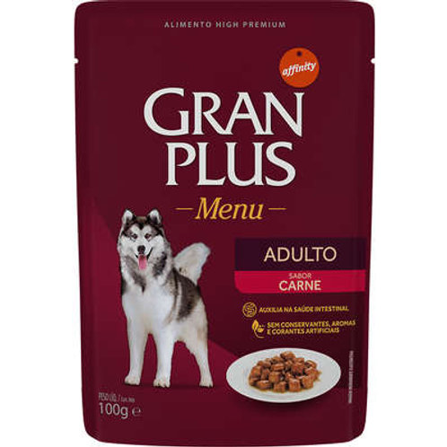 Sachê GRANPLUS para Cães Adultos Sabor Carne - 100 G