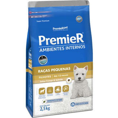 Ração Premier Ambientes Internos Cães Filhotes Raças Pequenas - 2,5 Kg