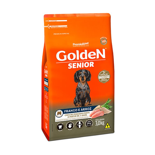 Ração Golden Senior Adulto Mini Bits - 3 Kg