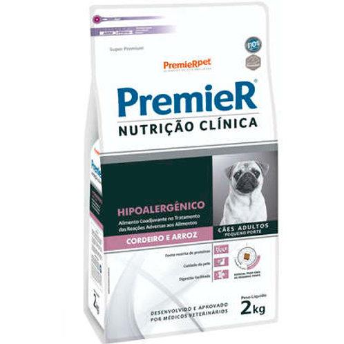 Ração Premier Nutrição Clínica Hipoalergênico Cordeiro e Arroz para Cães Adultos