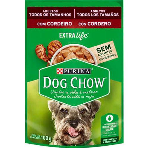 Sachê Dog Chow para Cães Adultos Todos os Tamanhos Sabor Cordeiro