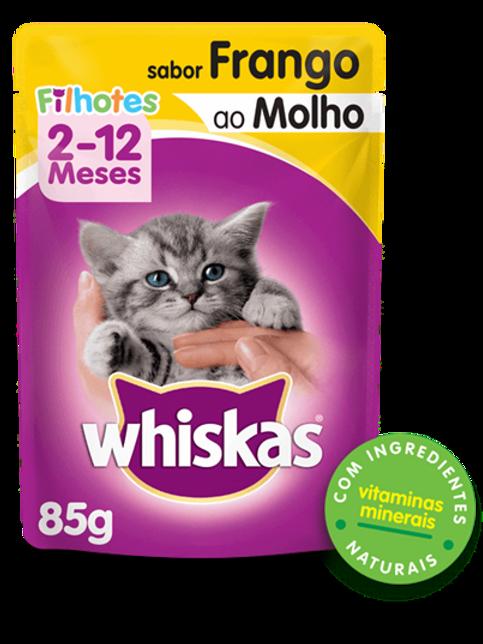 Sachê WHISKAS para Gatos Filhotes Sabor Frango ao Molho - 85 G