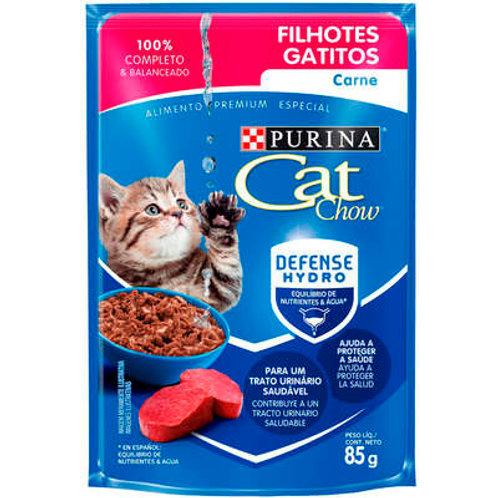Sachê Purina Cat Chow Gatos Filhotes Carne ao Molho